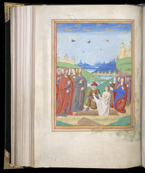 Full-Page Miniature Of The Raising Of Lazarus, In A Book Of Hours